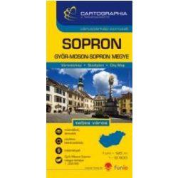 Sopron térkép, várostérkép és Győr-Moson-Sopron megye térkép Cartographia 1:12 500  2014