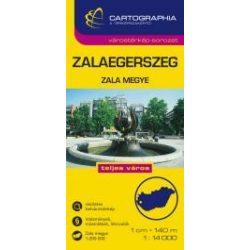 Zalaegerszeg várostérkép és Zala megye térkép Cartographia 1:14 000  2010