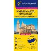 Nyíregyháza térkép, Mátészalka várostérkép, Szabolcs-Szatmár-Bereg megye térkép Cartographia 1:20 000