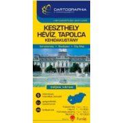 Keszthely térkép, 1:11 000 Keszthely, Hévíz, Tapolca, Kehidakustány térkép Cartographia 2015