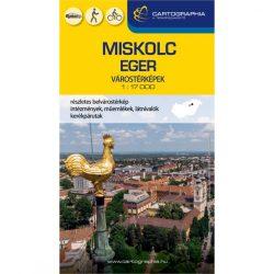 Miskolc térkép, Eger térkép, Eger várostérkép, Miskolc várostérkép Cartographia 2021