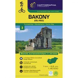 Bakony turistatérkép Bakony dél  1:40 000, Somló turistatérkép Cartographia 2021