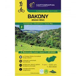 Bakony turistatérkép Bakony észak térkép 1:40 000 Cartographia 2021