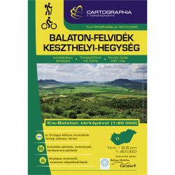 Balaton-felvidék túrakalauz, Keszthelyi-hegység turistakalauz Cartographia 1:40 000 Balaton felvidék turistatérkép, túrakalauz