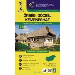 Őrség turistatérkép, Őrség, Göcsej, Kemeneshát turistatérkép Cartographia