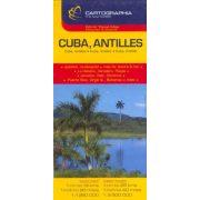 Kuba térkép Cartographia, Antillák térkép