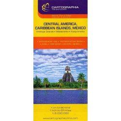 Közép-Amerika, Mexikó és a Karib-szigetek térkép Cartographia