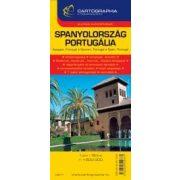 Spanyolország térkép és Portugália térkép Cartographia 1:1 500 000   2013