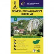 Gömör-Tornai-Karszt turistatérkép Aggtelek turistatérkép Cartographia 1:40 000 Cserehát turistatérkép 2020