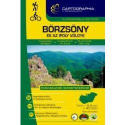 Börzsöny turistakalauz Cartographia, Börzsöny túratérkép, Börzsöny turista és kerékpáros atlasz 1:40 000