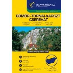 Aggtelek, Gömör-Tornai karszt, Cserehát túrakalauz Cartographia kiadó 1:40 000  Gömör túrakalauz