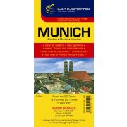 München térkép Cartographia 1:22 000