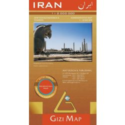 Irán térkép Gizi Map 1:2 000 000