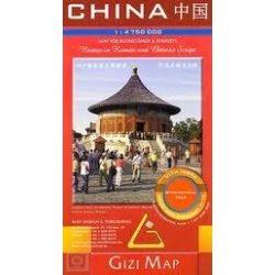 Kína domborzat térkép Gizi Map 1:4 750 000
