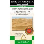 Szaúd-Arábia térkép Gizi Map 1:3 000 000