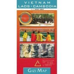 Vietnam, Laos, Cambodia térkép Gizi Map  1:1 400 000 Vietnam térkép