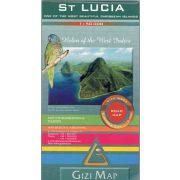 St. Lucia térkép Gizi Map 2009 1:50 000