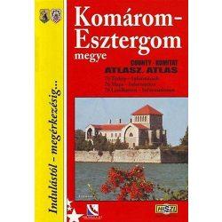 Komárom-Esztergom megye atlasz HiSzi Map