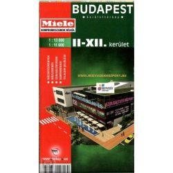 Budapest II.- XII. kerület térkép Topopress 1:13 000   1:11 000  II.kerület térkép  2018