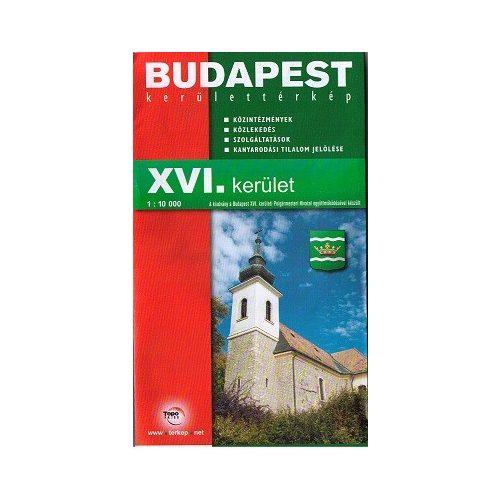 Budapest Xvi Kerulet Terkep Topopress 1 10 000 9789639113411