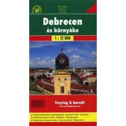 Debrecen térkép, Debrecen és környéke térkép Freytag     1:12 000