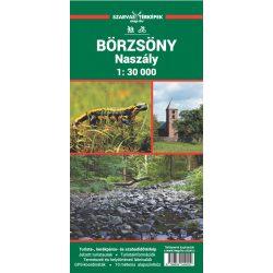 Fóliás Börzsöny térkép, Naszály, Börzsöny turista térkép 1:30 000 Szarvas kiadó 2019
