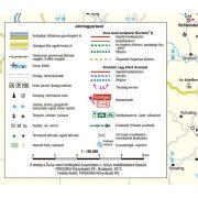 Duna menti kerékpárút Ausztriában térkép+könyv Frigória  2018  Ausztria kerékpáros térkép