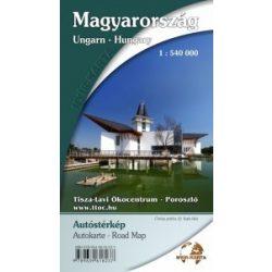 Magyarország térkép, Magyarország autótérkép Nyír-Karta 1:540 000 Magyarország közlekedése térkép