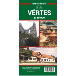 Vértes turistatérkép, Vértes túratérkép Szarvas A. kiadó 1:30 000