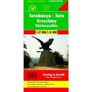Tatabánya térkép, Oroszlány, Vértesszőlős térkép, 1:17 000  Freytag