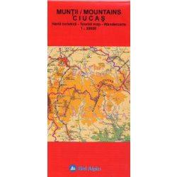 Csukás-hegység térkép, Muntii Ciucas hegység térkép 1:30 000 Bel Alpin