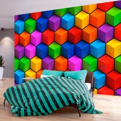 Fotótapéta - Colorful Geometric Boxes