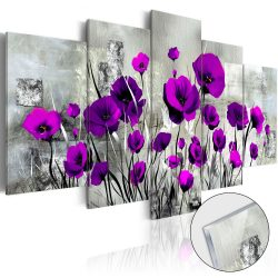 Akrilüveg kép - Meadow: Purple Poppies [Glass]