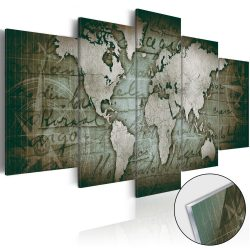 Akrilüveg kép - Acrylic prints – Bronze map III Világtérkép 200x100