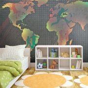 Fotótapéta térkép - map (for children) Világtérkép gyerekeknek 250x193