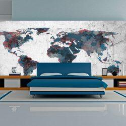XXL Fotótapéta térkép - World map on the wall Világtérkép 550x270