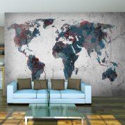 Fotótapéta térkép - World map on the wall Világtérkép 450x270