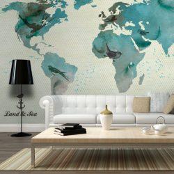 Fotótapéta térkép - A BIRD'S WORLD  200x154