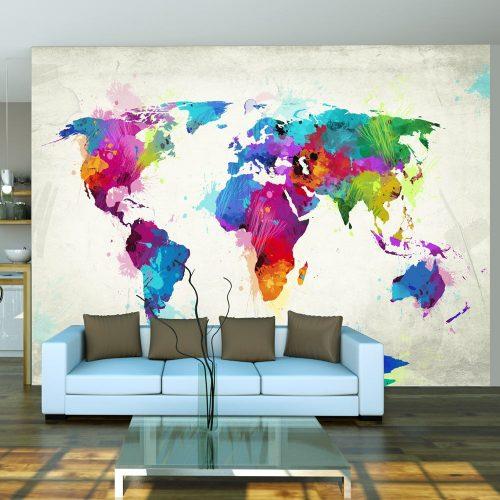 Fotótapéta térkép - The map of happiness Világtérkép 200x154