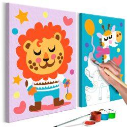 Kifestő - Lion & Giraffe