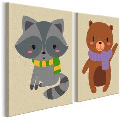 Kifestő - Raccoon & Bear