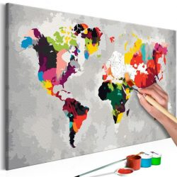 Kifestő Világtérkép, falitérkép - World Map (Bright Colours) 60x40
