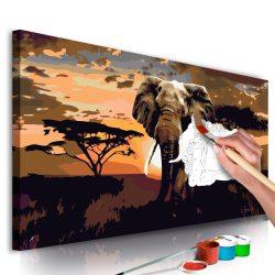 Kifestő - Elephant in Africa (Brown Colours)