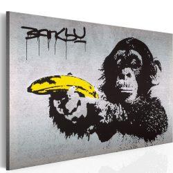 Kép - Állj, vagy lő a majom! (Banksy) 60x40