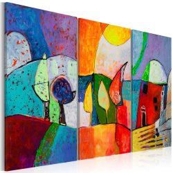 Kézzel festett kép - Colourful landscape