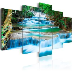 Kép - Blue Waterfall in Kanchanaburi, Thailand 200x100