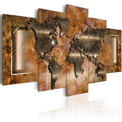 Kép - Világ falitérkép -Steel Map 200x100