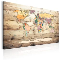 Kép - World Map: Colourful Continents