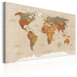 Kép - World Map: Beige Chic