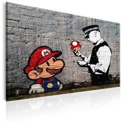 Kép - Mario and Cop by Banksy